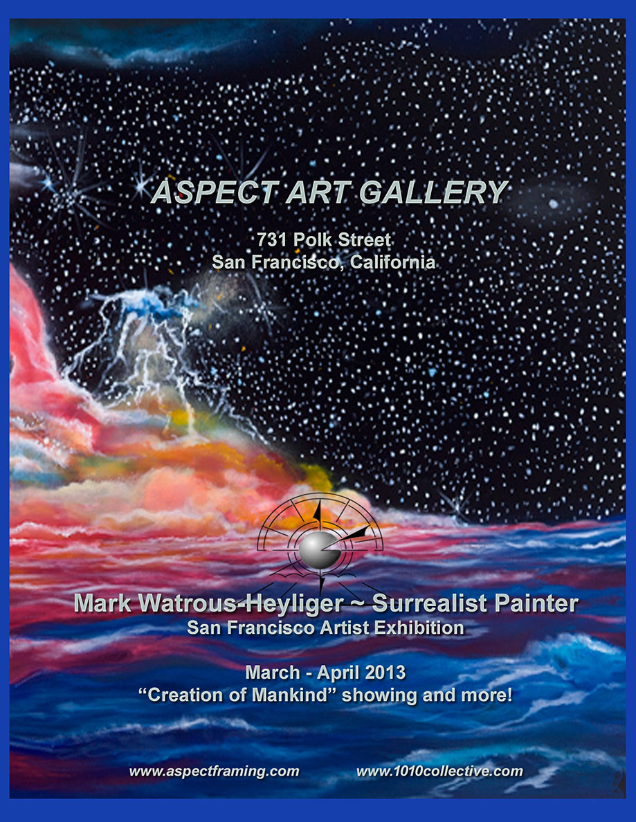 Aspect Art Gallery 2013 event flyer